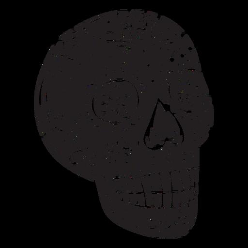 Silhouette calavera mexico illustration