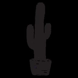 Silhouette plant cactus cacti illustration
