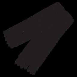 Ilustración de silueta chal sherape mexico