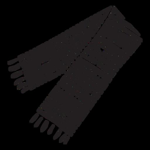Silhouette sherape shawl mexico illustration