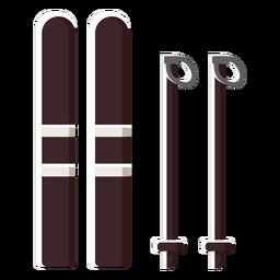 Equipo de material de esquí