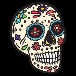 Ilustração de crânio morto México
