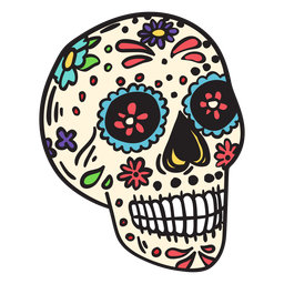 Skull dead mexico illustration