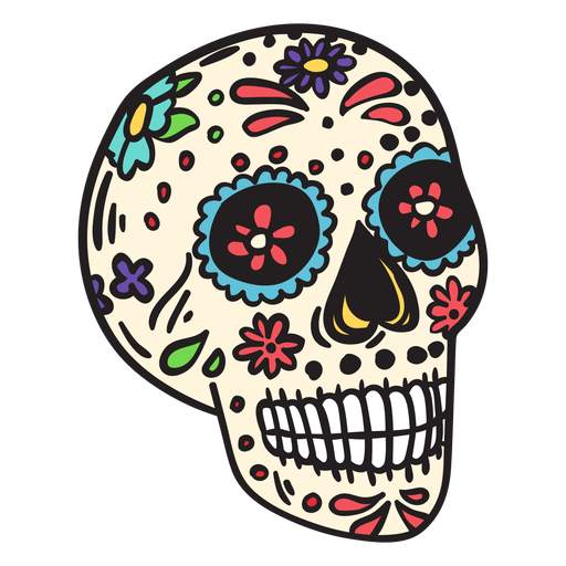 Skull dead mexico illustration