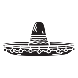 Sombrero mexican silhouette hat illustration