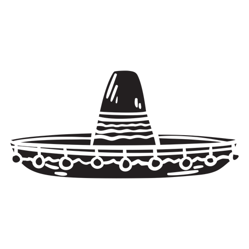 Sombrero mexican silhouette hat illustration Transparent PNG