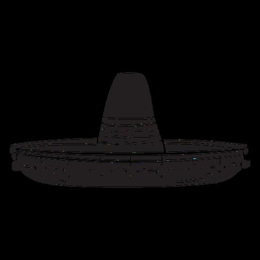 Sombrero silueta mexicana hat ilustración Transparent PNG
