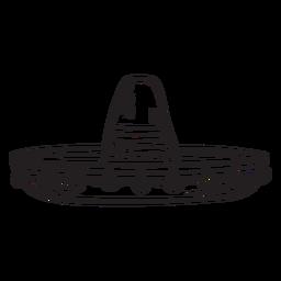 Sombrero trazo mexicano