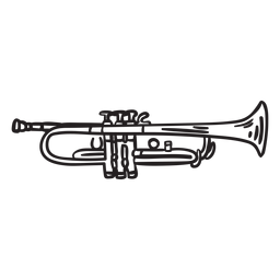 Sound music trumpet stroke
