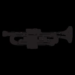 Toque de trompete de música sonora