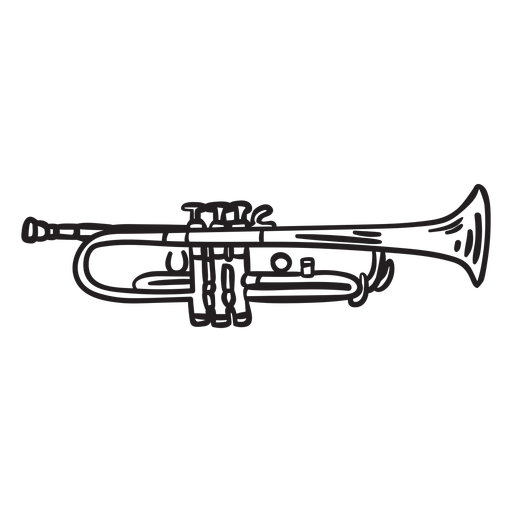 Sound music trumpet stroke Transparent PNG