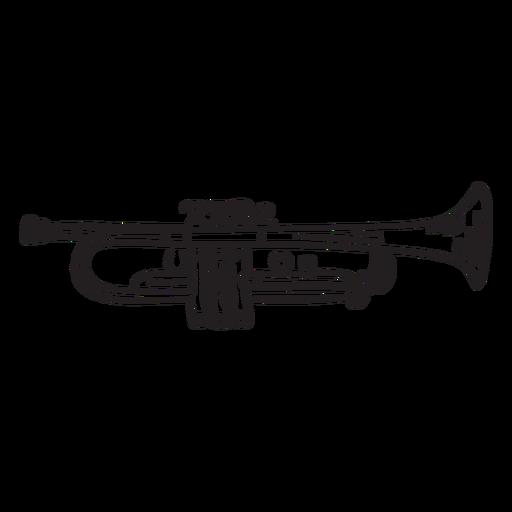 Sound music trumpet stroke