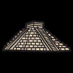 Ilustración antigua azteca del templo