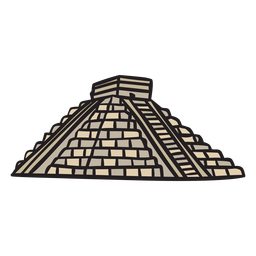 Ilustración antigua del templo azteca