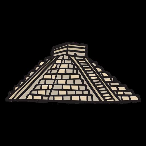Temple aztec ancient illustration