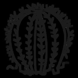 Ilustración de cactus de espina