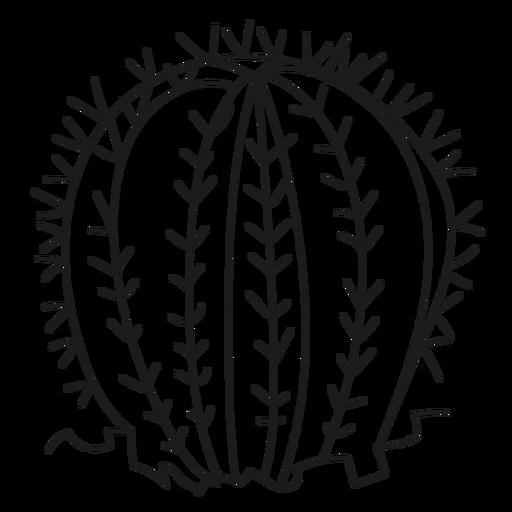 Ilustración de cactus de espina Transparent PNG