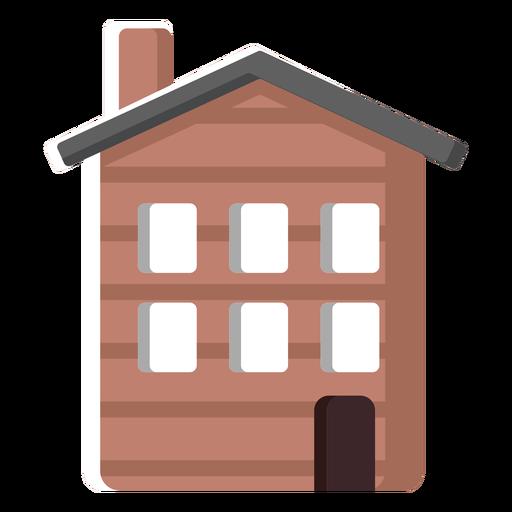 Ilustración de la casa tradicional finlandesa Transparent PNG
