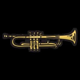 Ilustración de música de mariachi de trompeta
