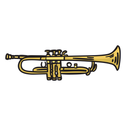 Trumpet mariachi music illustration