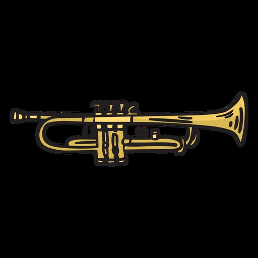 Trumpet mariachi music illustration Transparent PNG