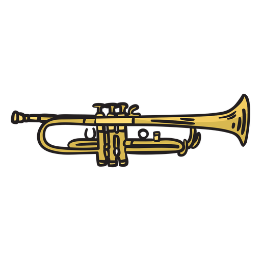Trumpet mariachi music illustration