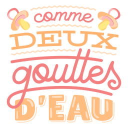 Twins french lettering lettering