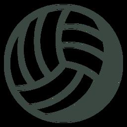 Volleyballball trägt Ikone zur Schau