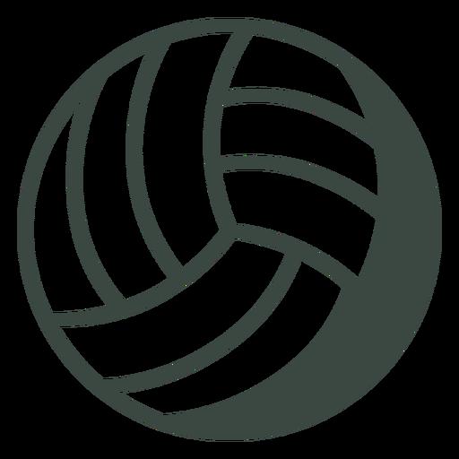 Ícone de esportes de bola de vôlei Transparent PNG