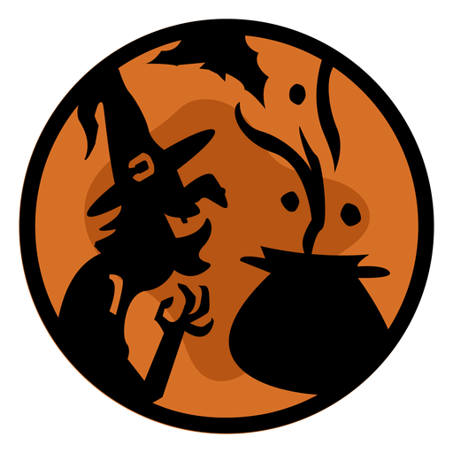 Witch halloween papercut illustration Transparent PNG