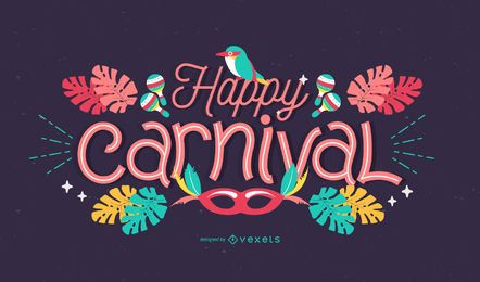 Happy Carnival Lettering Design