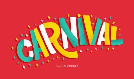 Ilustração de citação colorida de carnaval