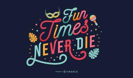 Design de letras de citação de carnaval