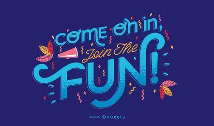 Diseño de letras de carnaval divertido