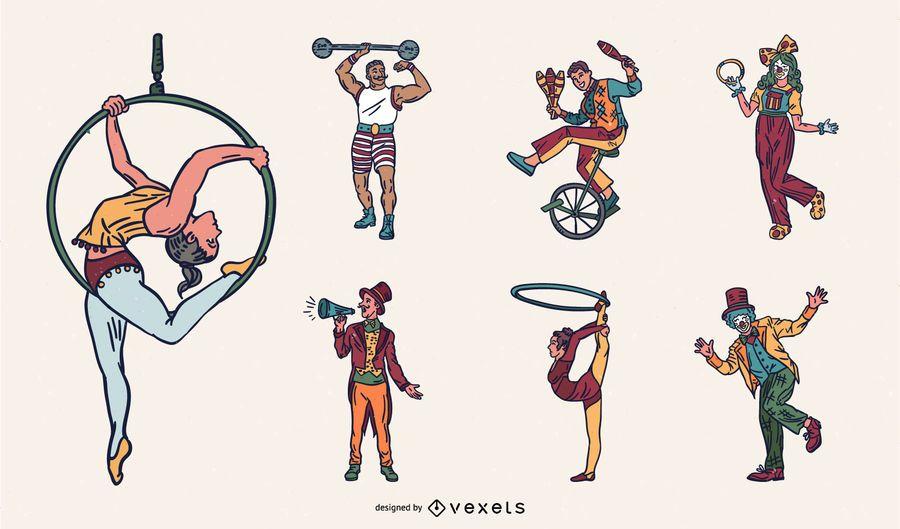 Colorful Circus Performer Design Pack