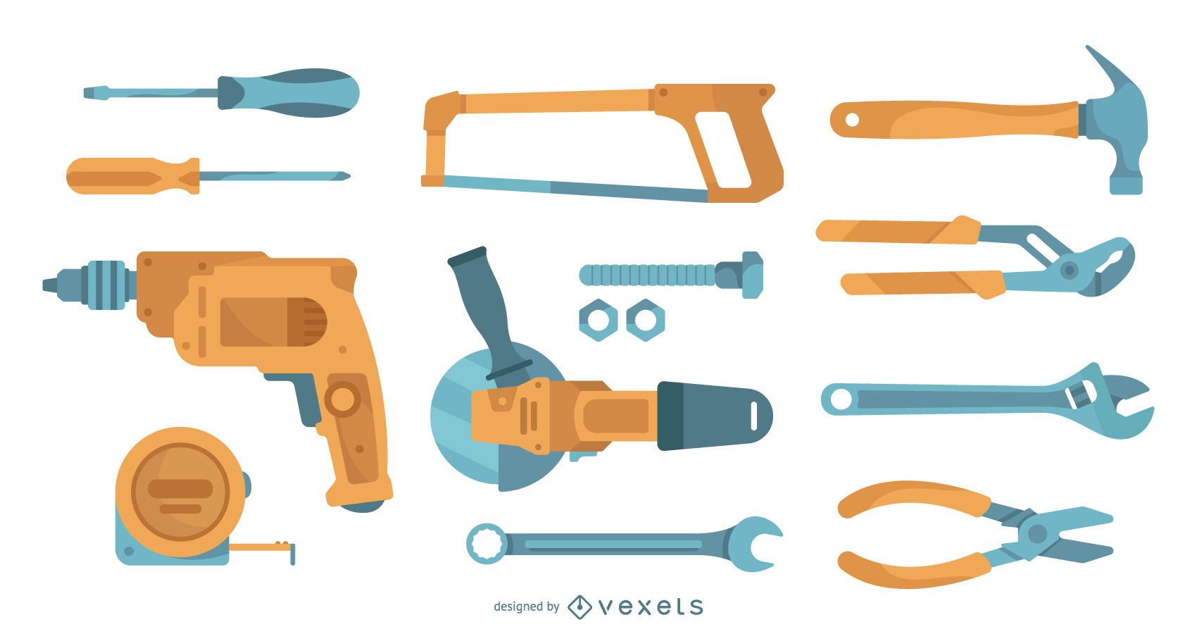 Flat tools collection