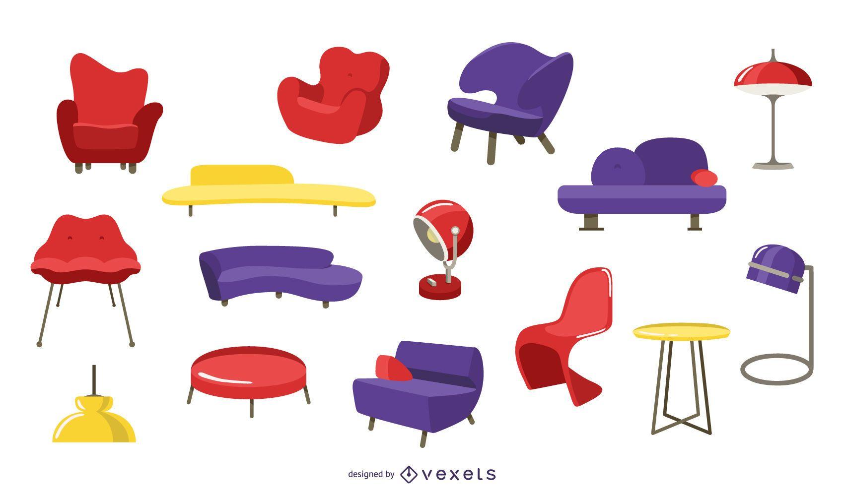 Colección de muebles pop art