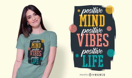 Diseño de camiseta de cita positiva