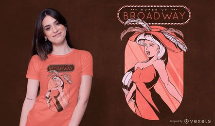 Mulheres do design da camiseta da Broadway