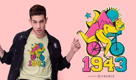 Design de camiseta de dia de bicicleta LSD