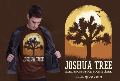 Design de camiseta do Joshua Tree Park