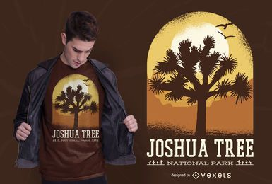 Design de t-shirt do parque da árvore de Joshua