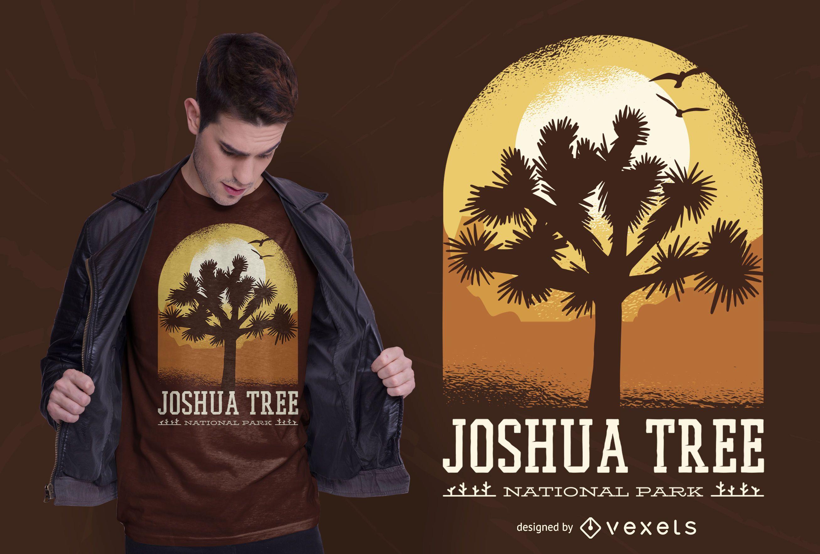 Joshua tree park t-shirt design