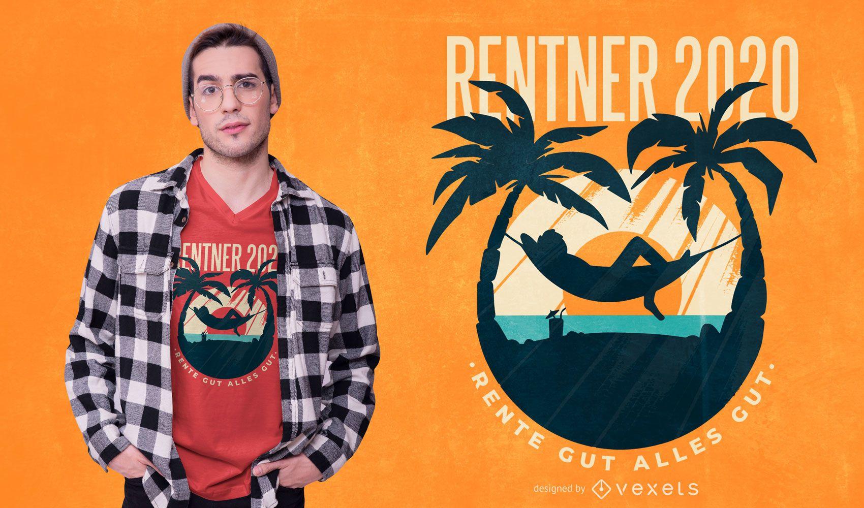 Rentner Deutsch Zitat T-Shirt Design