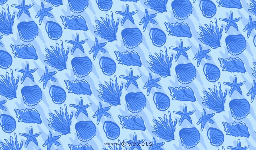 Ocean Elements Tileable Pattern