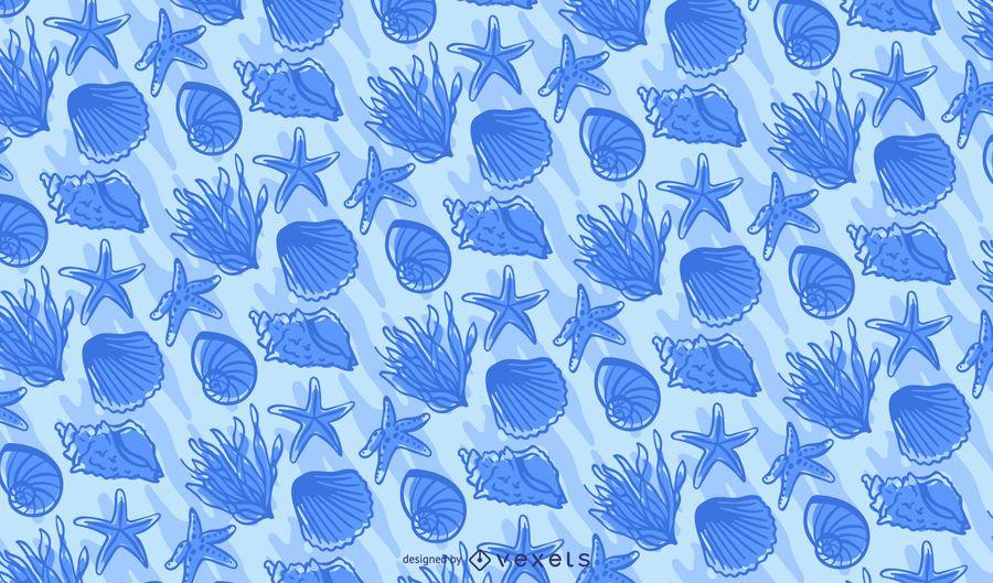 Ozean Elemente Tileable Muster