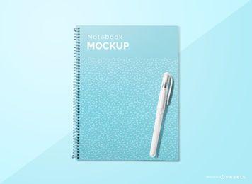 Maqueta de la pluma de la cubierta del cuaderno