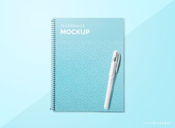 Notebook cover pen mockup