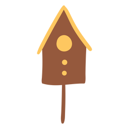 Bird house brown colored
