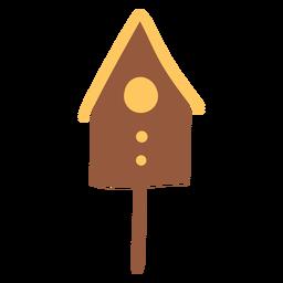 Casa de pássaro marrom